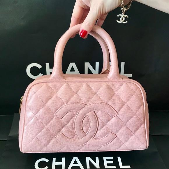 199321a6063190 CHANEL Handbags - SALE Chanel Pink Quilted Caviar CC Mini Boston Bag